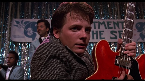 Marty McFly Playing the Guitar